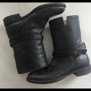 Madewell black motorcycle boots size 7 fall boots
